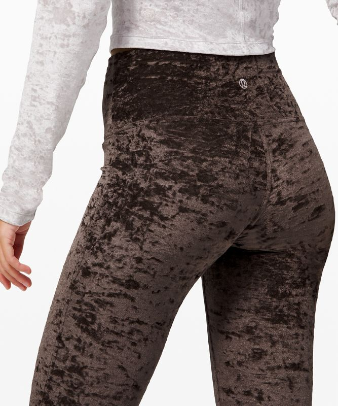 "Wunder Lounge High-Rise Tight 28"" *Crushed Velvet"