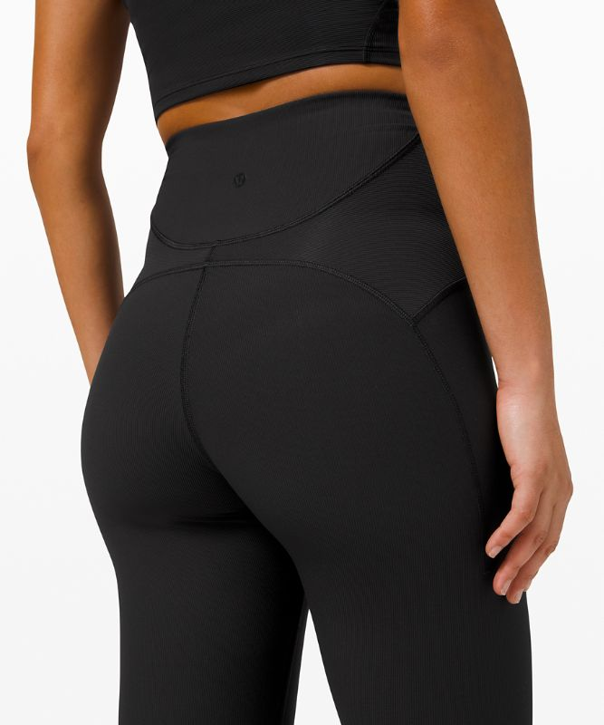 """Ribbed Contoured High-Rise Tight 28"""""""