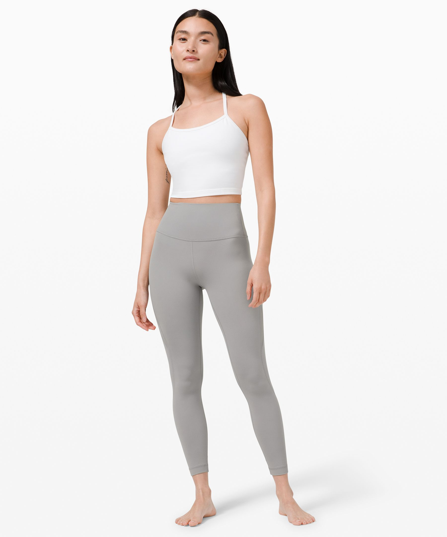 """Nulu™ and Mesh High-Rise Tight 24""""  *Asia Fit"""