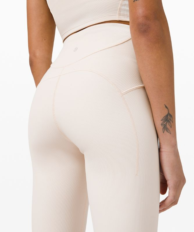 Ribbed Contoured High-Rise Tight 28""