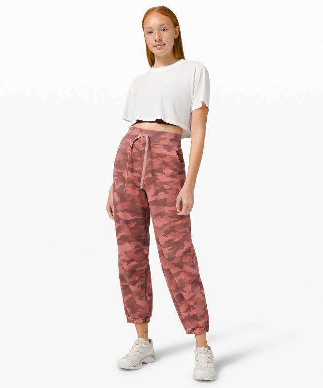 Relaxed Fit Super-High Rise French Terry Full Length Jogger