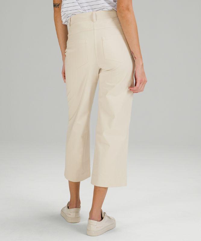 City Sleek 5 Pocket Wide-Leg High Rise 7/8 Length Pant