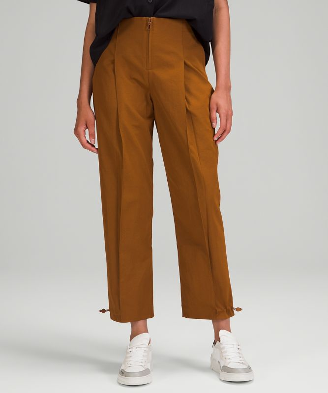 Cotton-Blend Twill Trouser *7/8 Length