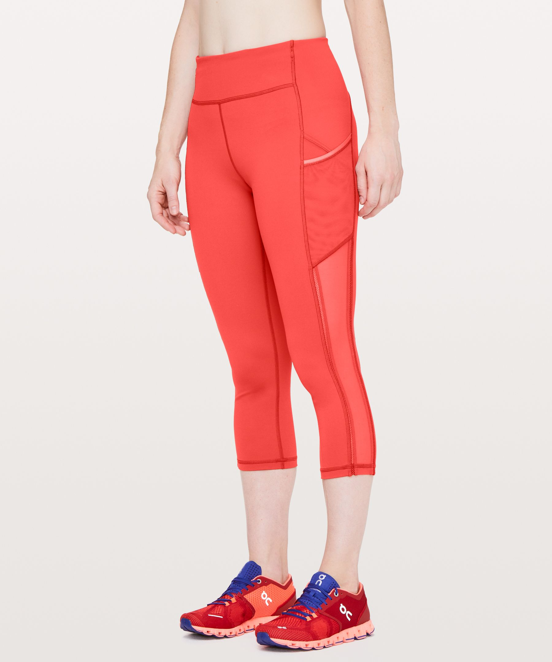 "Speed Up Crop High Mesh 21"" by Lululemon"