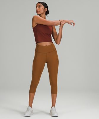 """Fast and Free High-Rise Reflective Crop 19""""   Nulux™"""