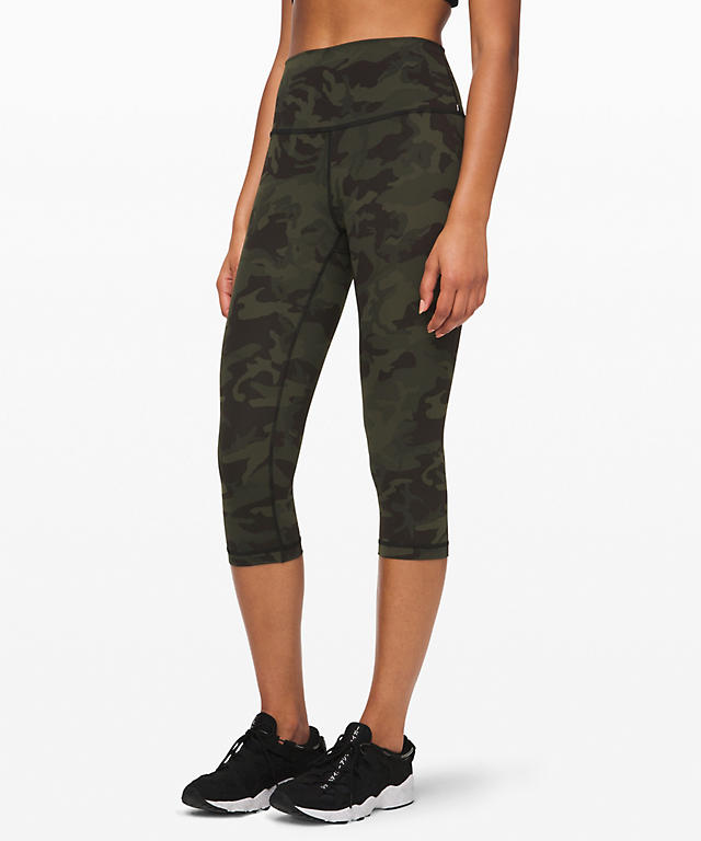 d6e200194ad60 Incognito Camo Multi Gator Green Wunder Under High-Rise 1/2 Tight Online  Only ...