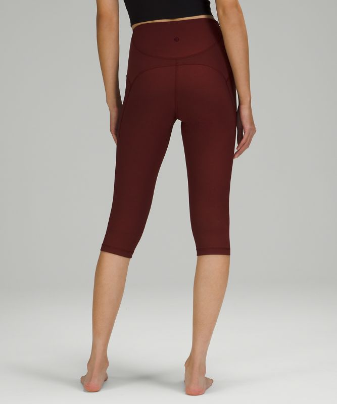 """Ribbed Contoured High Rise Crop *17"""""""