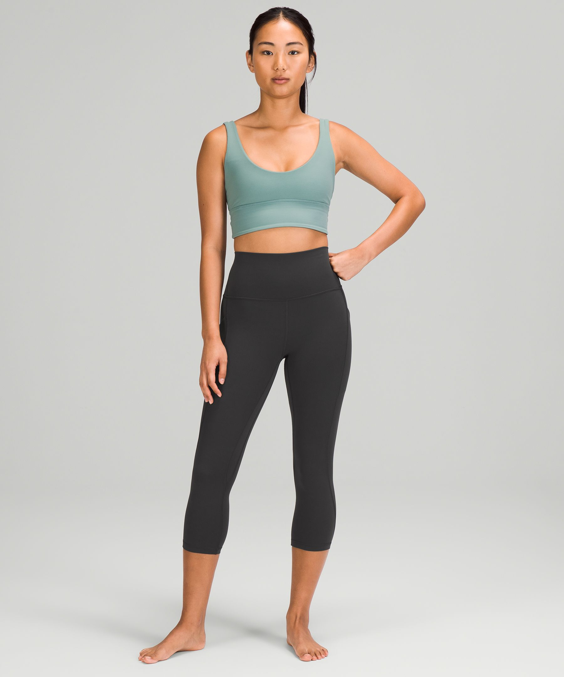 """Align High-Rise Crop 20""""   Pockets  *Asia Fit"""