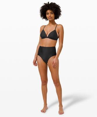 Culotte bikini à couverture moyenne et taille haute Waterside
