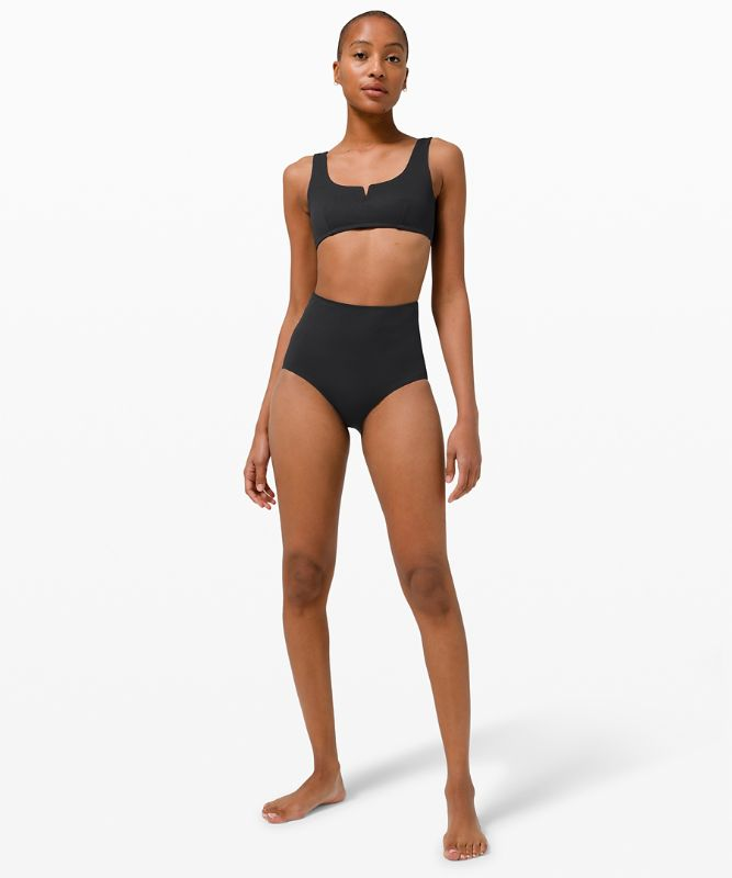 Waterside Honeycomb Swim Bottom *High Waist, Full Coverage Online Only