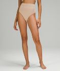 Honeycomb Dip Swim Bottom *Super-High Rise, Extra-Skimpy