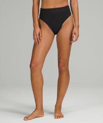 Ribbed High-Waist Extra-Skimpy Swim Bottom