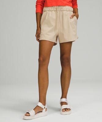 Shorts mit Stretch und hohem Bund 9cm