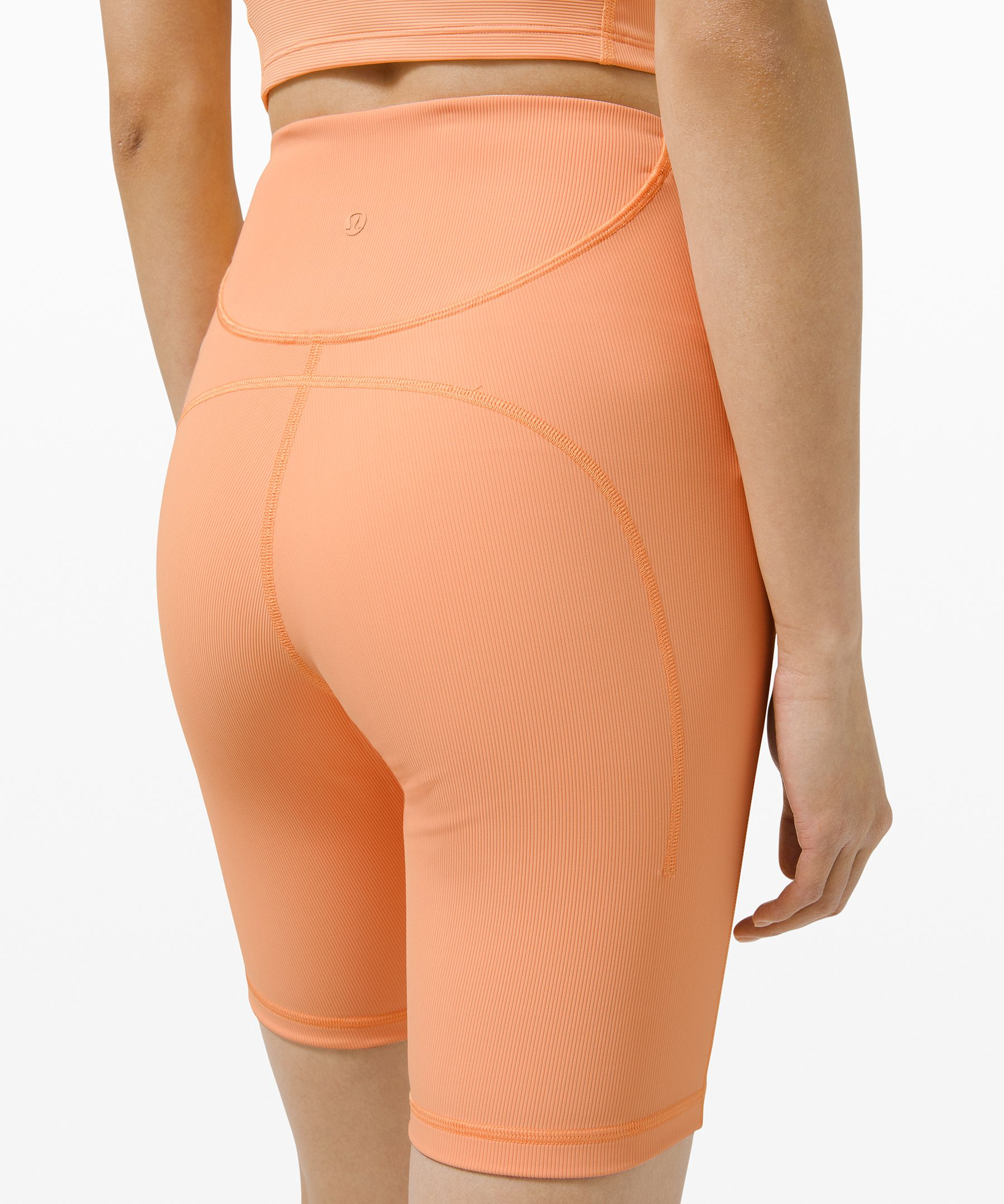 """Ribbed Contoured High-Rise Short 8"""""""