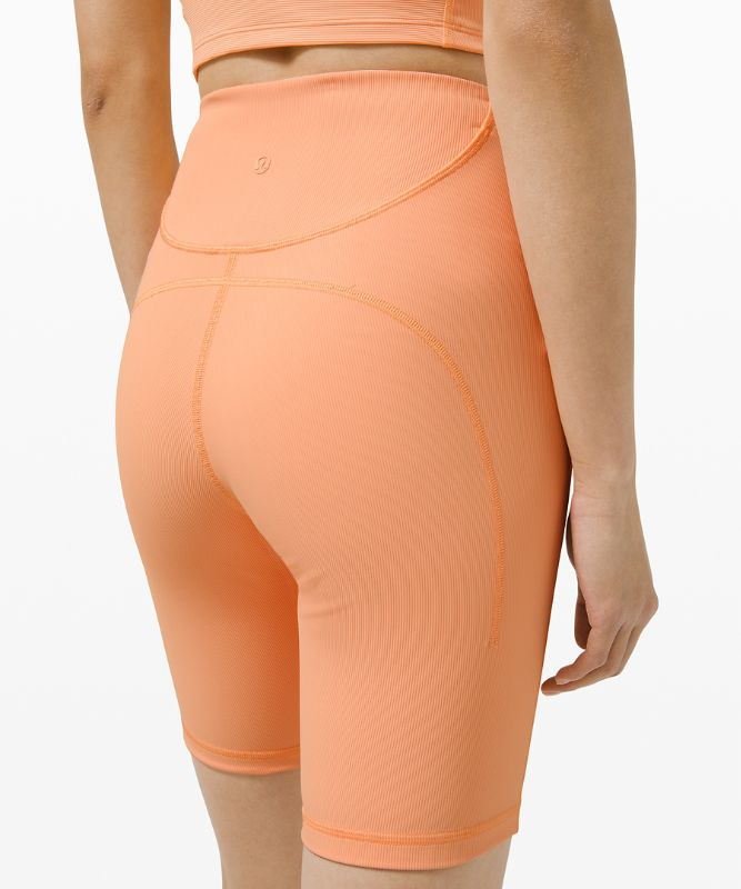 Ribbed Contoured High-Rise Short 8""