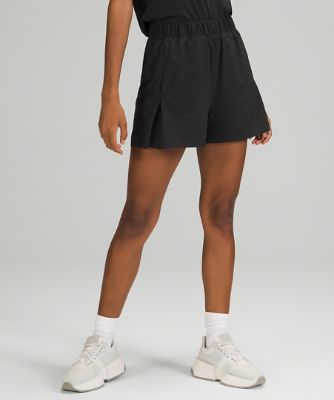 Super-High Rise Pleated Shorts