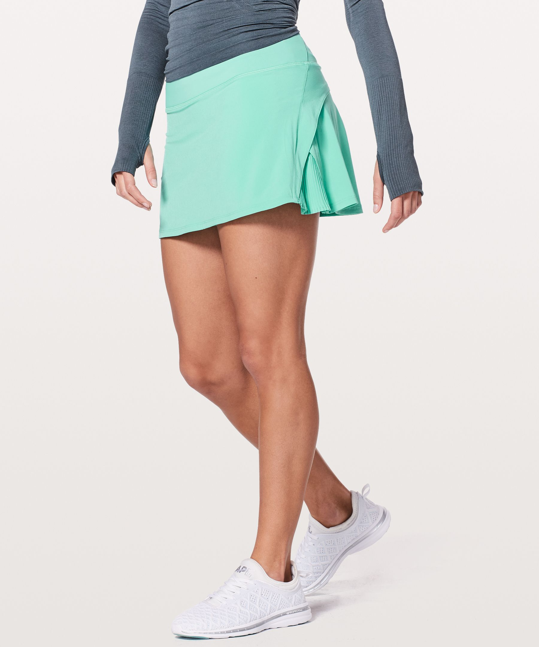 "Play Off The Pleats Skirt 14"" by Lululemon"