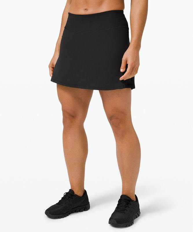 Pleated Lined High-Rise Tennis Skirt