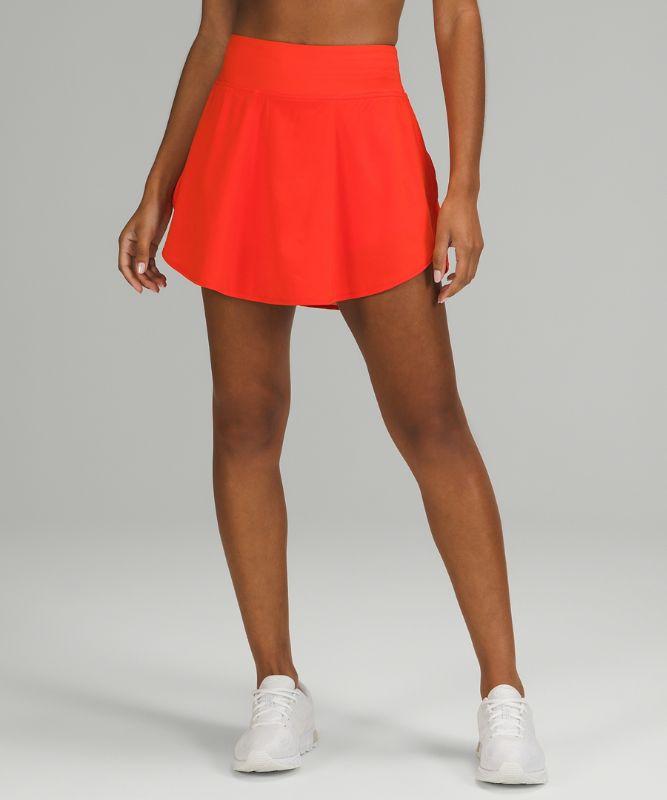 Flutter Hem High-Rise Tennis Skirt