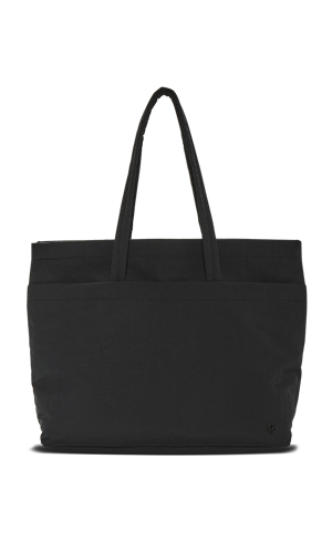 9911d02da9e9 Black over-the-shoulder tote.