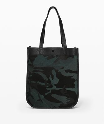 [30% OFF] 나우 앤 올웨이즈 토트, JACQUARD CAMO COTTON OBSIDIAN-BLACK