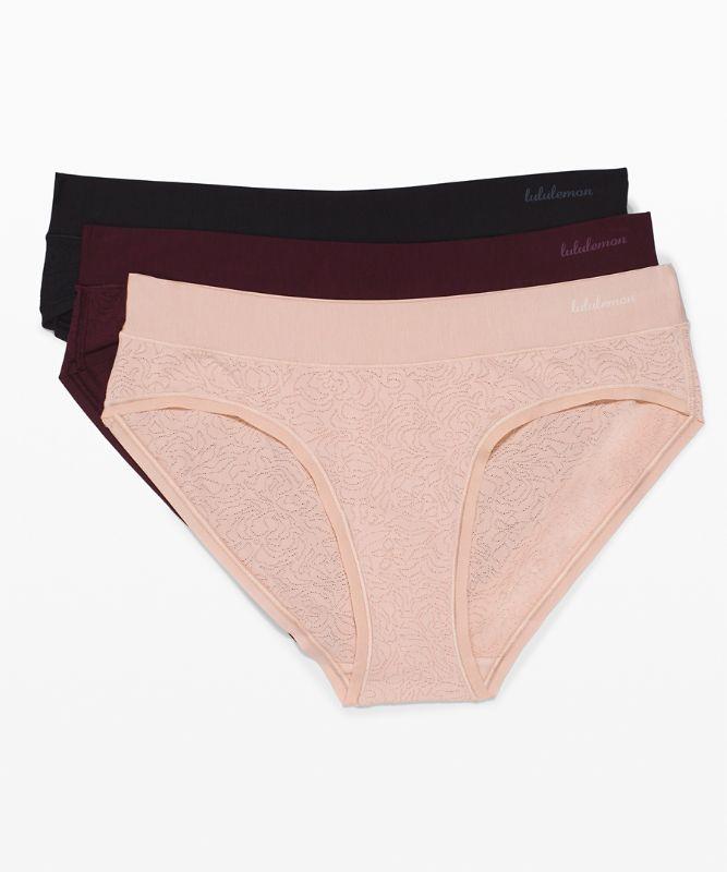 Soft Breathable Bikini *Lace 3 Pack