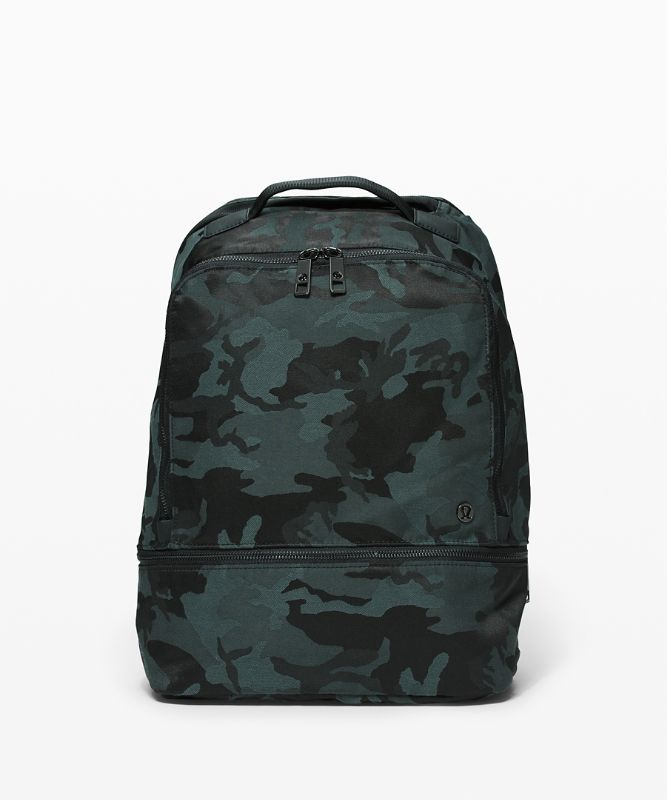 [30% OFF] 시티 어드벤처 백팩, JACQUARD CAMO COTTON OBSIDIAN-BLACK