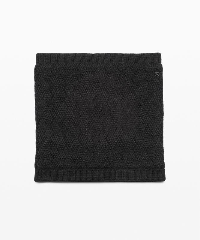 Chevron Knit Neck Warmer