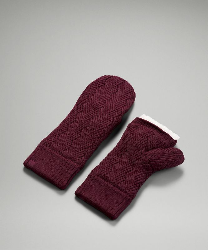 Mitaines Chevron Knit