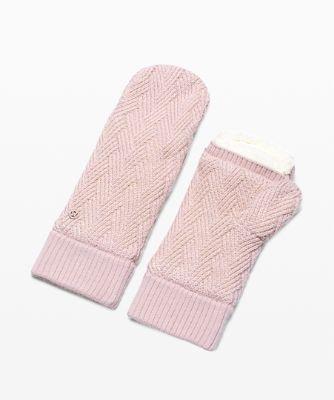 Chevron Knit Mitten