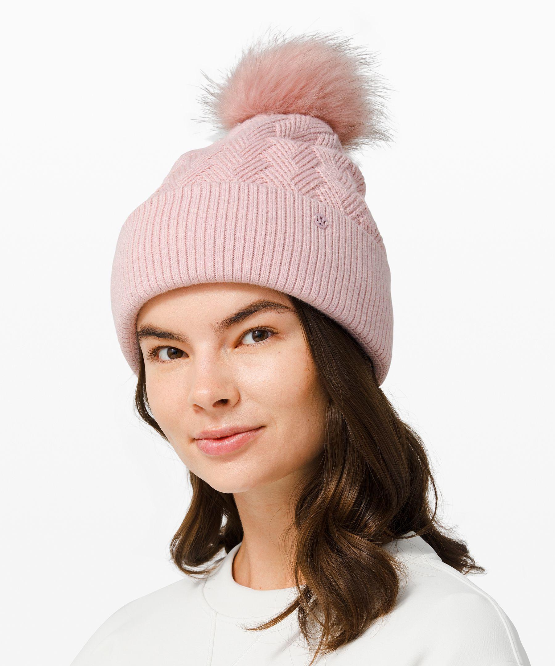 Lululemon Sherpa Weave Pom Beanie In Pink