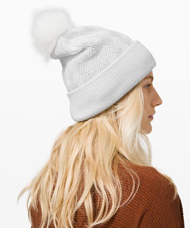 Bonnet à pompon Sherpa Weave