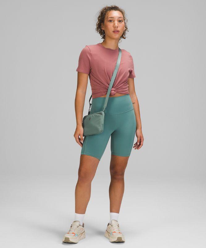 Curved Lines Crossbody Bag