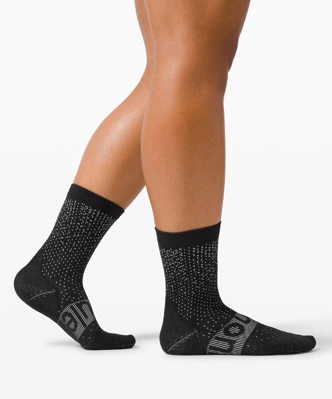 Power Stride Crew Sock *Reflective