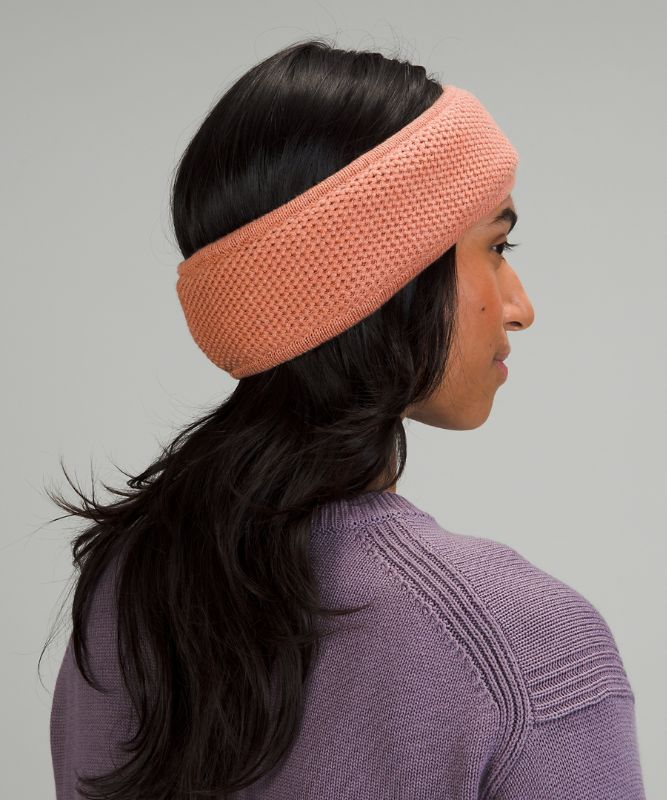 Fleece-Lined Knit Ear Warmer