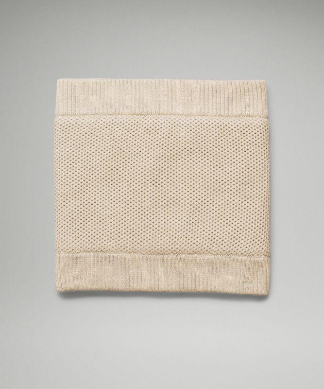 Fleece-Lined Knit Neck Warmer