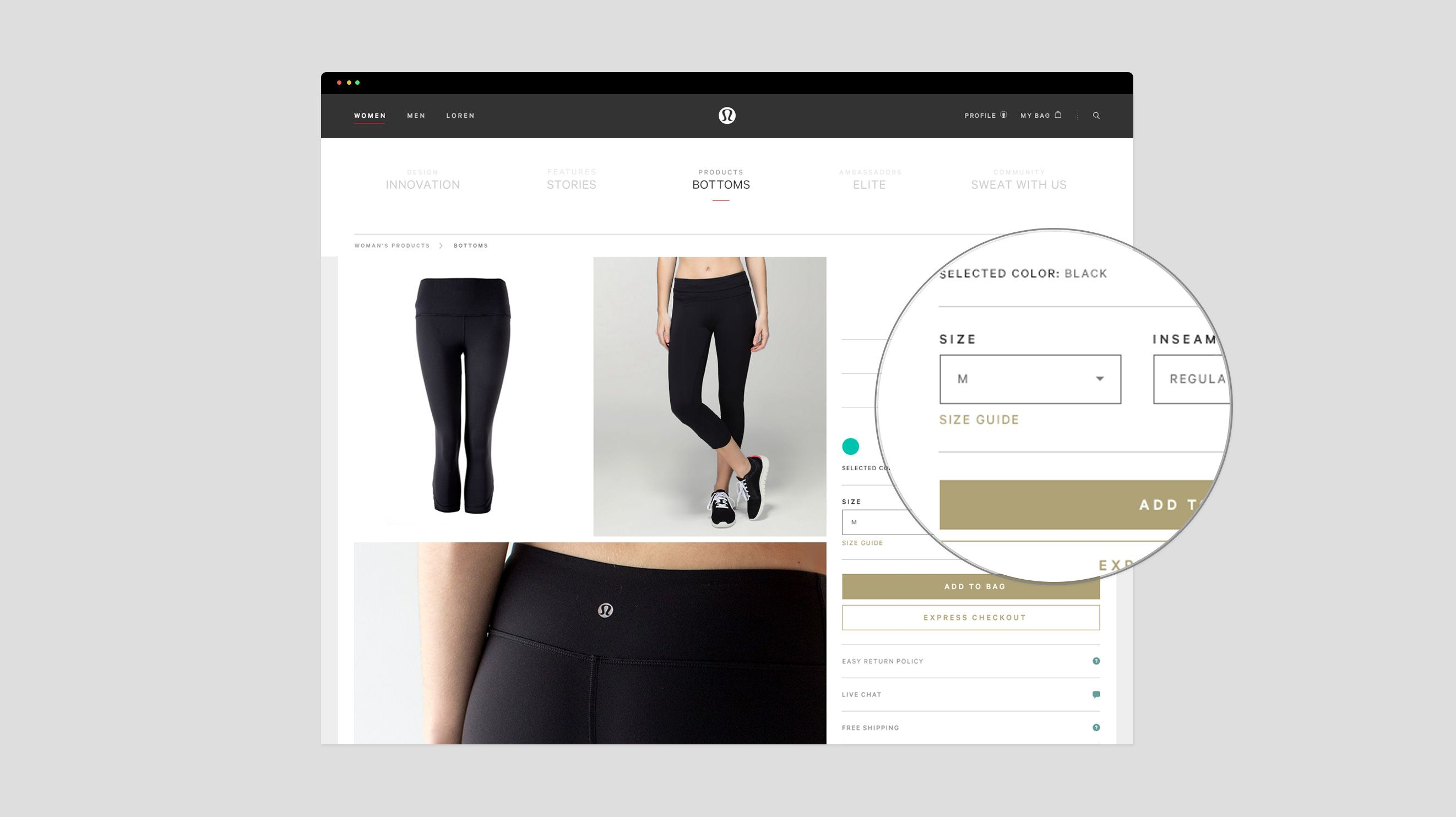 sizing help lululemon athletica