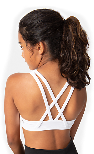 90d665b914 The back of a girl wearing a white bra
