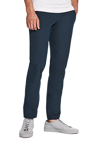 ecaa69564d21 1 3 view of men s lower body wearing navy relaxed fit pants.