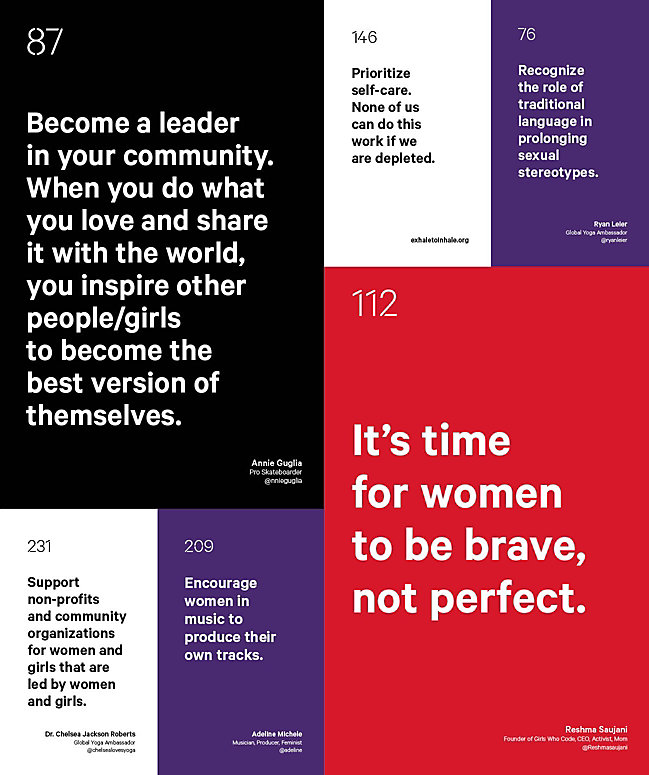 ffbd420f783 Image of a poster that has tips you can take to help reach gender equality.