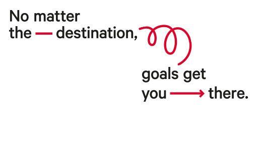 Set goals, not resolutions.