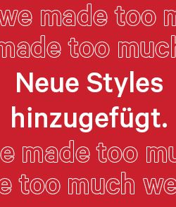 Neue Styles hinzugefügt.