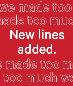 Shop New Lines Added