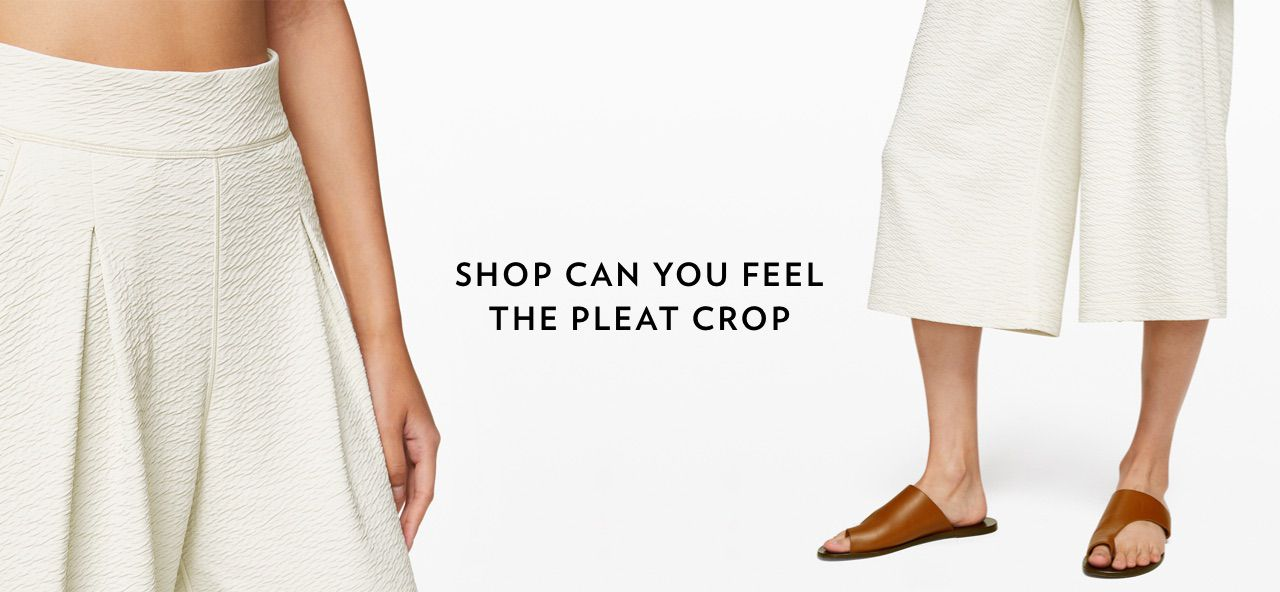 SHOP CAN YOU FEEL THE PLEAT CROP