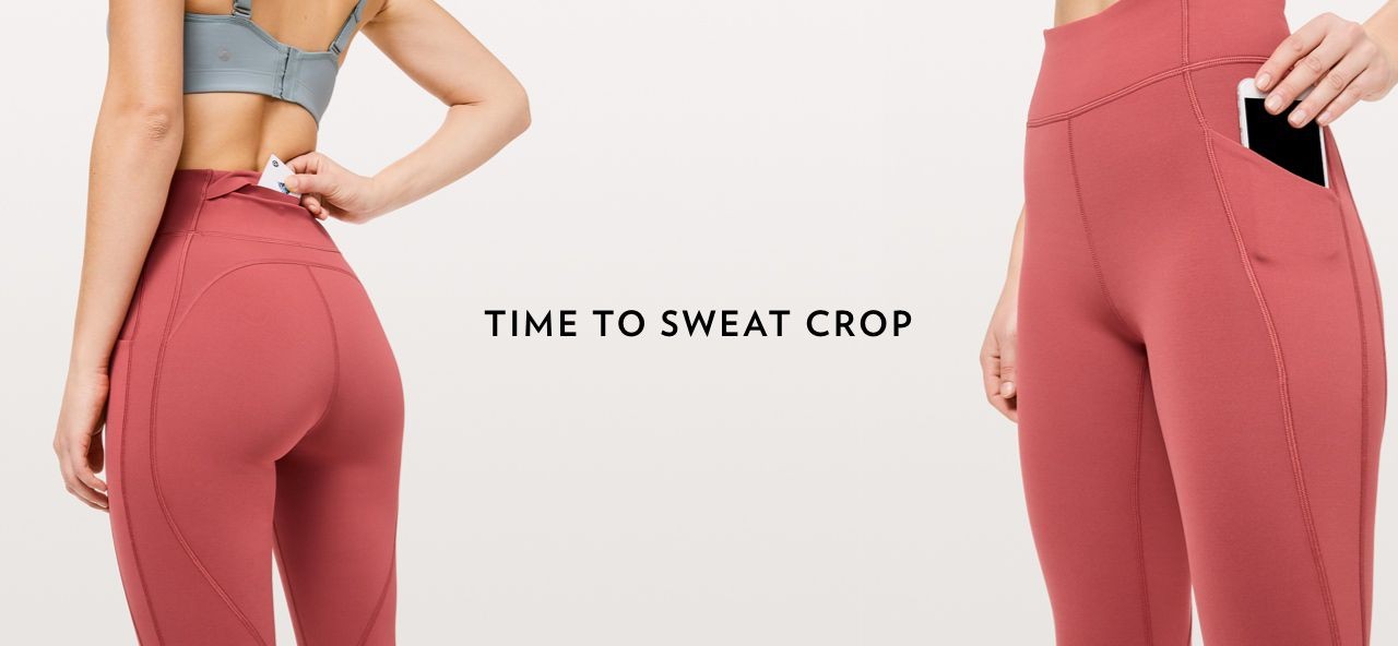 42ad643286180 Time To Sweat Crop is Back - lululemon athletica Email Archive