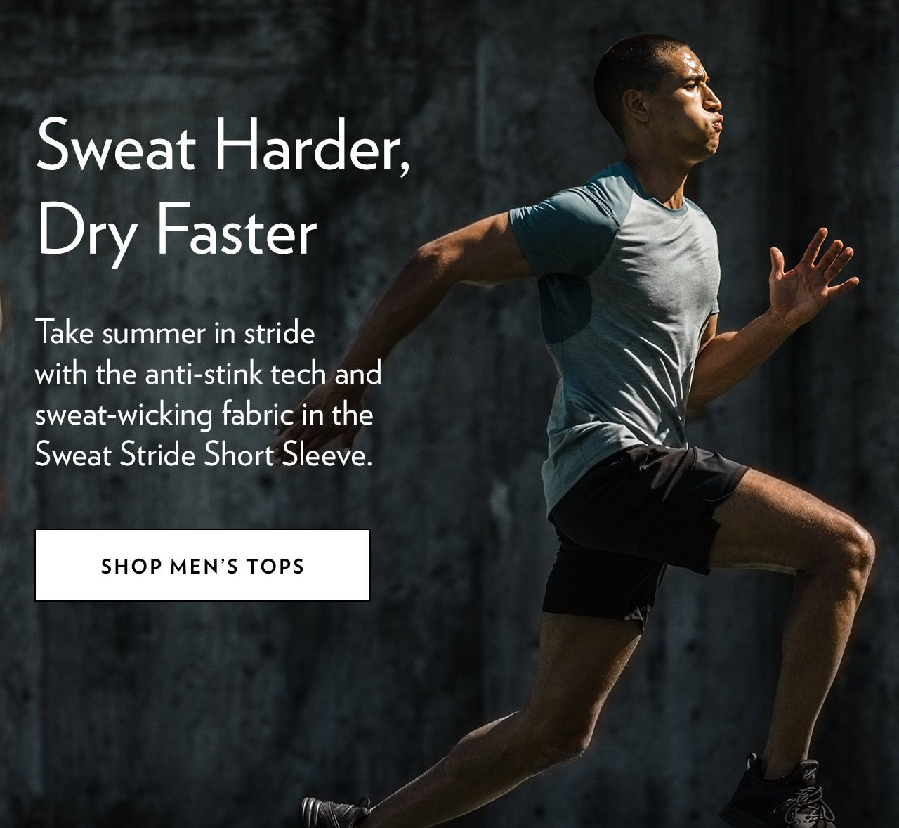 Sweat Harder, Dry Faster - SHOP MEN'S TOPS